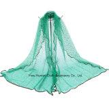 Polyester-schöner Voile-Schal 100% der Dame-Shine Stars
