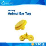 Etiqueta de oído animal del sistema de seguimiento del ganado de la vaca Hdx 125kHz Em4305 RFID para la granja de Nueva Zelandia