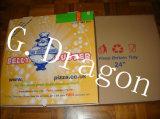 Euroart-dünne Lehren-gewölbter Kraftpapier-Pizza-Kasten (DDB12004)