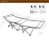 鉄の管のキャンプのオックスフォードの布の折るベッド