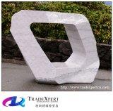 屋外の景色の歩行者の通りの正方形の花こう岩の装飾の抽象彫刻