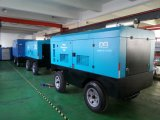 Compresor de aire rotatorio móvil portable del tornillo del motor diesel para la explotación minera
