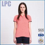 2016 OEM het Korte Overhemd van het Polo van de Verkoop van de Tiener van de Koker Hete In te ademen voor Dames