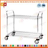 Metallchrom-Garage-Speicher-Draht-Fach-Einteilung mit Rädern (Zhw148)