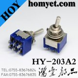 Fabricante MTS-202 botón de interruptor de palanca de empuje 6pin Auto Reset on off Interruptor