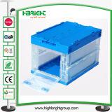 Estilo japonés transparente caja de rotación de plástico transparente con tapas