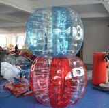 Sfera Bumper della bolla di gioco del calcio gonfiabile umano del parco di divertimenti di schiocco del PVC TPU