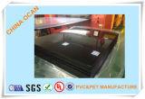 Strato lucido del PVC del nero