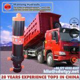 Cilindro hidráulico telescópico para o cilindro hidráulico do corpo do caminhão