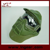 Тактическая маска объектива изумлённого взгляда Airsoft полной стороны с шеей защищает маску