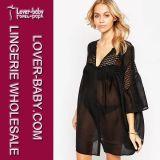Het Badpak van Swimwear van de Kleding van de Bovenkanten van de Uniformjas van vrouwen (l38317-1)