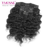 Afrouxar o grampo de cabelo brasileiro do Virgin da onda nas extensões