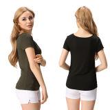새로운 디자인 Homwear Women T-Shirt 연약한 편리한 면 숙녀