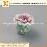 Bottiglia di profumo di ceramica vuota di nuovo stile con la protezione del fiore