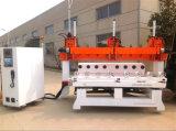 5 máquina de cinzeladura de madeira do CNC da linha central 4D