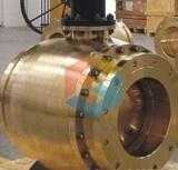 Выкованный латунный шариковый клапан Trunnion