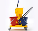 2-Bucket Wringer Trolley с 46L Capacity (YG-073)