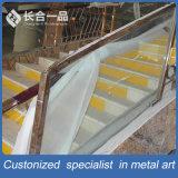 Fabricación personalizada de acero inoxidable con Handrial de vidrio para el vestíbulo del hotel