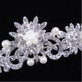 합금 후원자 모조 다이아몬드 진주 신부 크라운 Tiaras를 비화하는 2017 최신 판매