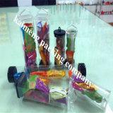 Reale Fabrik-Angebot-in hohem Grade gedruckte freie Plastikgeschenk-Gefäße für Paket-Dekoration mit Griff (Geschenkgefäß)