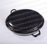 Apparecchio di cucina ovale nero dell'articolo da cucina della vaschetta di cottura del forno della casseruola del girarrosto dello smalto