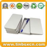Rechteckiger dünner Zinn-Kasten-Silber-Metallbleistift-Kasten