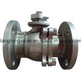 Le rf a bridé robinet à tournant sphérique d'extrémités d'acier inoxydable