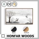 frame de madeira da pintura da arte dos alces de 30X120cm para a decoração Home