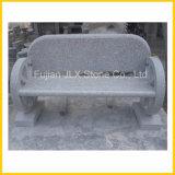 卸し売り薄い灰色の花こう岩の石の庭のベンチ