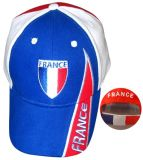 Gorra de béisbol aplicada con brocha del deporte del bordado del casquillo del emparedado de la tela cruzada del algodón