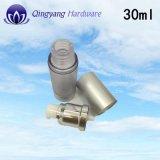 Botella privada de aire de aluminio de plata mate para la crema corporal 15ml30ml50ml100ml