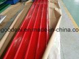 Bobina de acero cubierta color de acero de la placa PPGI del azulejo