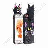 caixa do silicone dos desenhos animados do iPhone 7 para o telefone móvel