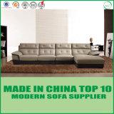 Sofá de madeira do couro do lazer da mobília moderna para a sala de visitas