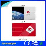 Movimentação 2016 plástica do flash do USB do cartão de crédito do presente relativo à promoção de Hotsale 1GB