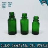 Бутылки эфирного масла зеленого стекла с редуктором отверстия
