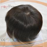 Parte molle dei capelli del merletto dei capelli umani della pelle sottile eccellente diritta rivestita piena delle donne poli