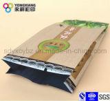 Saco selado parte traseira do empacotamento plástico da dobra para o chá/café