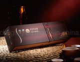 Boîte-cadeau noire de luxe faite sur commande de tiroir de carton glissant le cadre de empaquetage