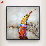 Hauptdekor-Eiffelturm-Karikatur-Art-Wand-Abbildung-Ölgemälde