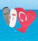 Sandalias promocionales de las sandalias del fracaso de tirón de las sandalias y de los deslizadores de la tarjeta