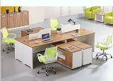 2 portées en bois L poste de travail de bureau de forme (HX-NCD286)