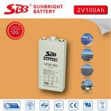 batterie d'acide de plomb de 2V100ah AGM pour des télécommunications