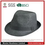 Chapéu de palha de papel em branco preto para homens