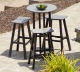 Mobilia commerciale di nuovo del randello del patio della sella di barra degli sgabelli svago di legno esterno moderno dell'hotel (4+1)