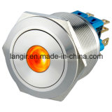 Interruptor 25mm Anillo de metal a prueba de polvo anti-vandalismo pulsador (L25-Z2)