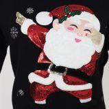 عيد ميلاد المسيح هبة من [لديس] كنزة في تطريز كهربائيّة وخرزة تطريز ونوعية أكريليكيّ [هندفيل] ليّنة