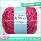 Il filato cucirino di lavoro a maglia variopinto ha pettinato la sfera di cotone mercerizzata