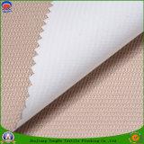 Tissu imperméable à l'eau tissé de rideau en arrêt total d'enduit de franc de polyester de tissu de textile pour le rideau prêt à l'emploi