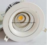 2.5 MAZORCA LED Downlight de la pulgada 9W con el recorte de 70m m